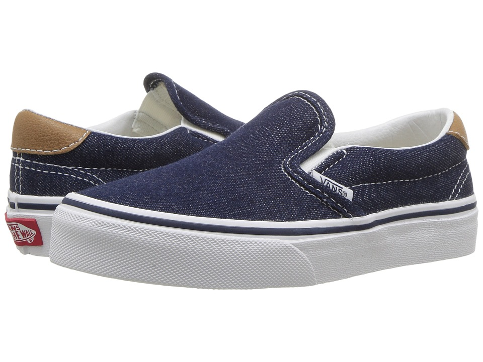 Vans Kids Slip-On 59 (Little Kid/Big Kid) ((Denim C&L) Dress Blues/Chipmunk) Boy's Shoes