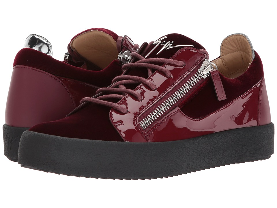 Giuseppe Zanotti - May London Low Top Velvet Sneaker (Amaranto) Mens Shoes