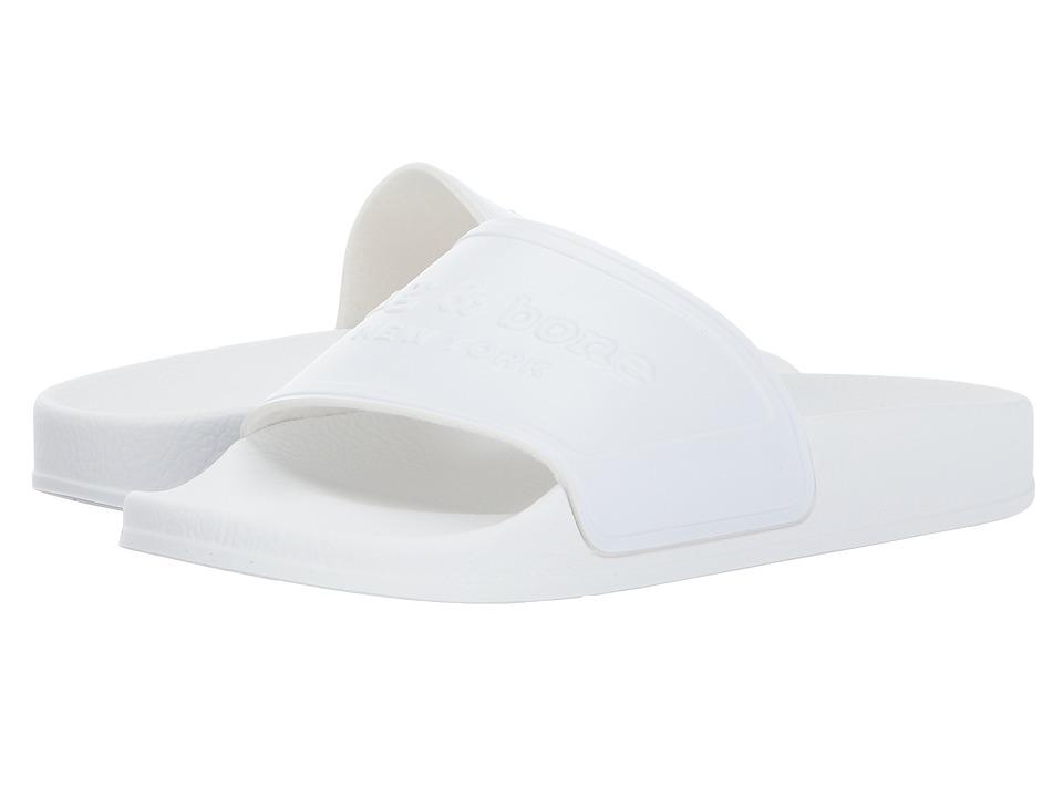 rag & bone Pool Slide (White Rubber) Women