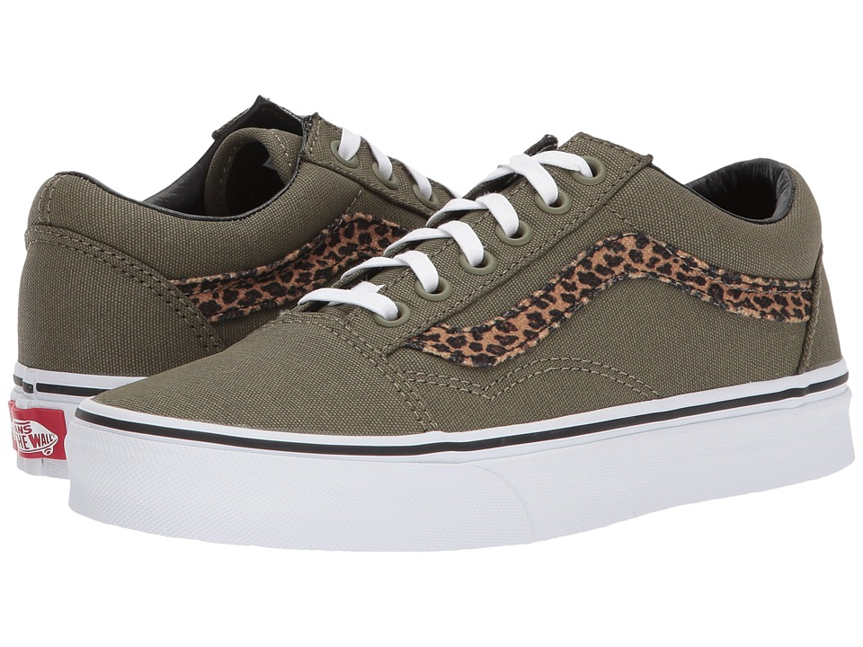 Vans Old Skooltm ((Mini Leopard) Army Green/True White) S...