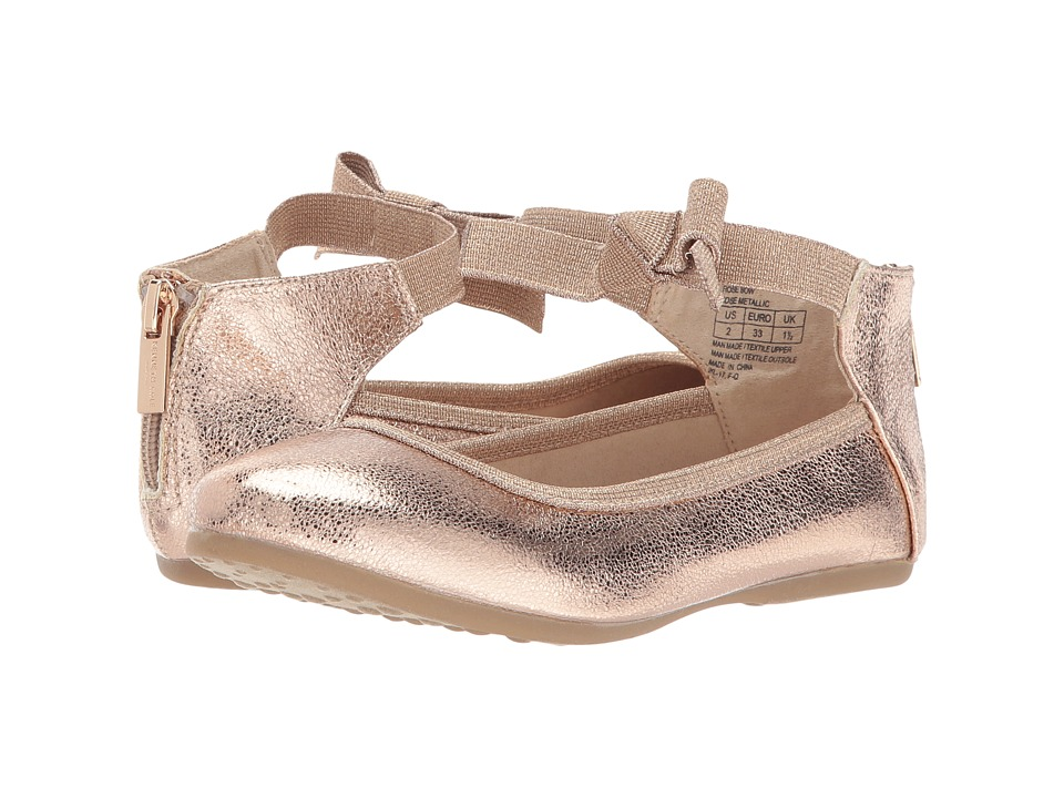 Kenneth Cole Reaction Kids Rose Bow (Little Kid/Big Kid) (Rose Metallic) Girl's Shoes