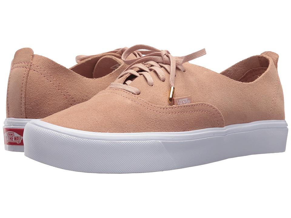 Vans Authentic Deacon Lite ((Suede) Mahogany Rose/True White) Skate Shoes