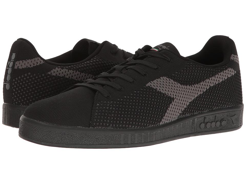 Diadora Game Weave (Black/Black) Athletic Shoes