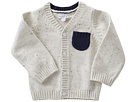 Mud Pie Speckled Button Up Sweater (Infant)