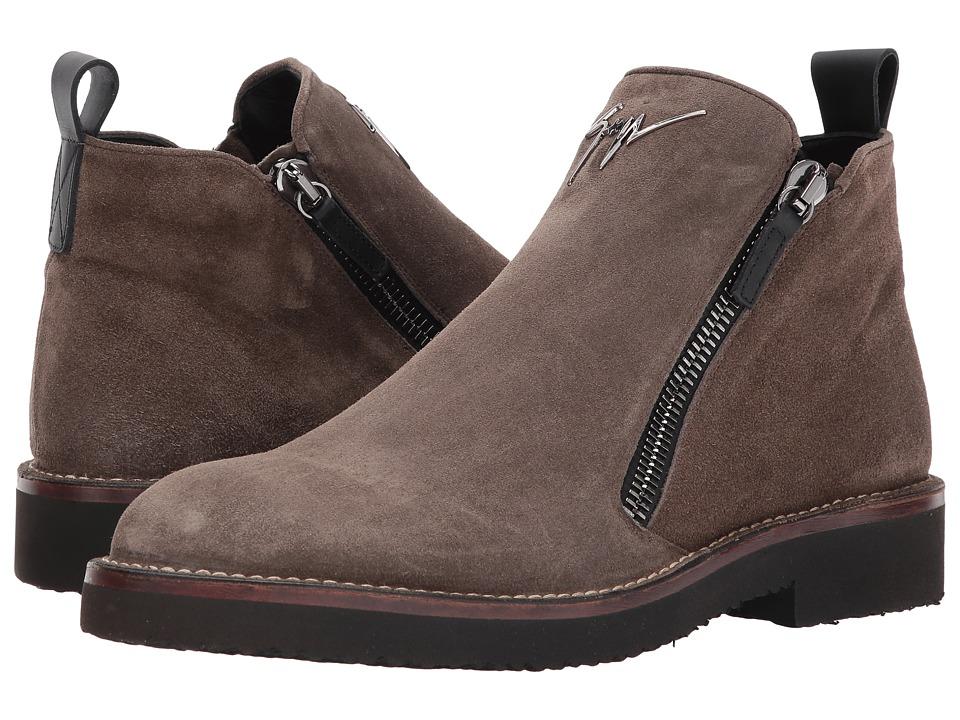 Giuseppe Zanotti Disparr Zipper Boot (Brown) Men's Boots