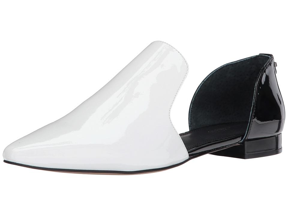 Calvin Klein Edona (White/Black Patent) Women