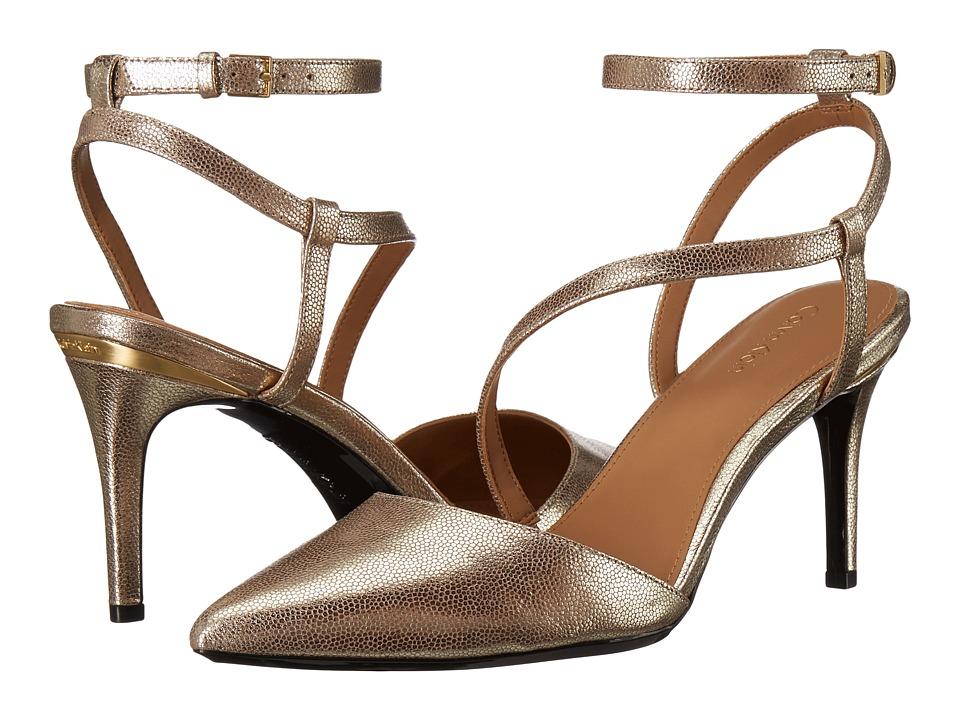 Calvin Klein Ganya (Sandstorm Metallic Stingray Print Leather) Women