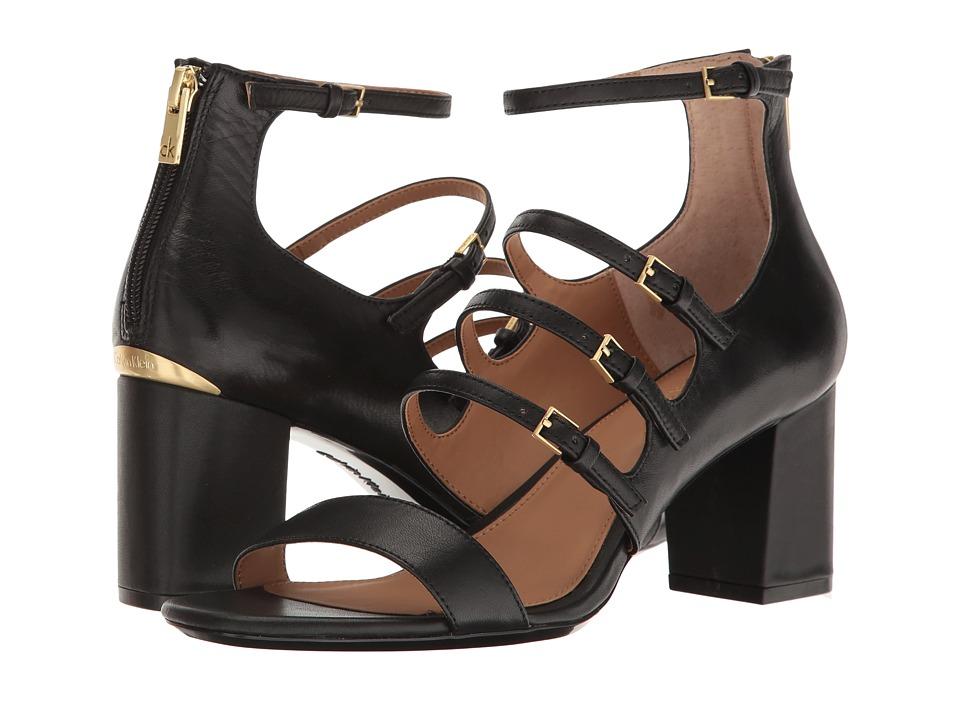 Calvin Klein Caz (Black Leather) Women