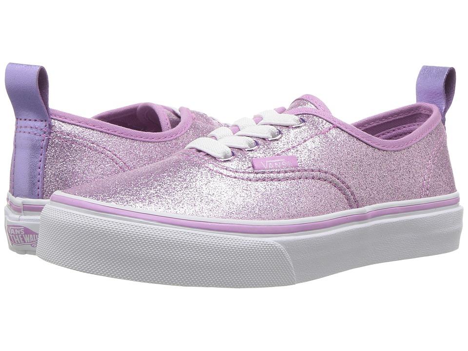 Vans Kids Authentic Elastic Lace (Little Kid/Big Kid) ((Glitter + Metallic) Lilac) Girl