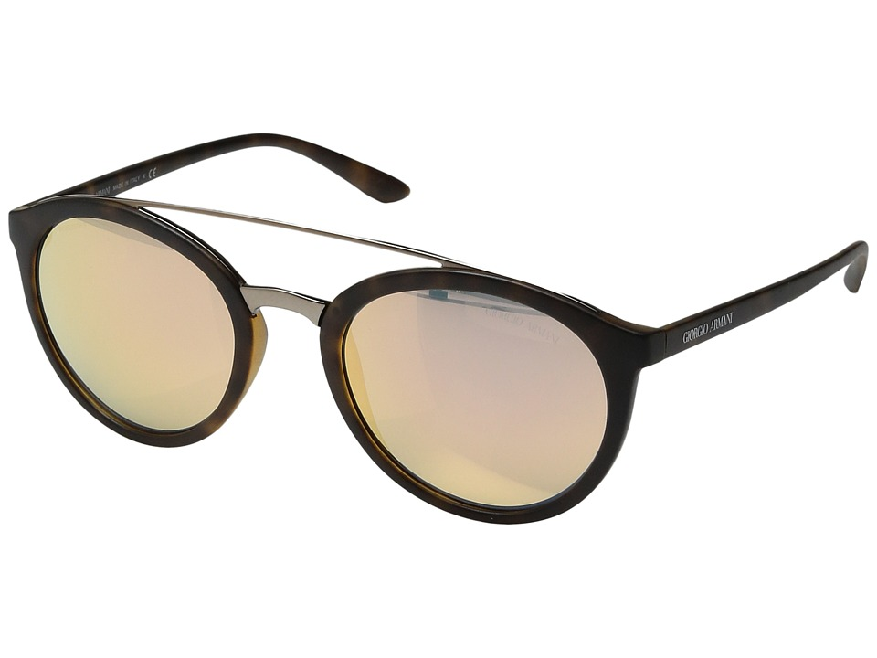 Giorgio Armani - 0AR8083 (Matte Havana) Fashion Sunglasses