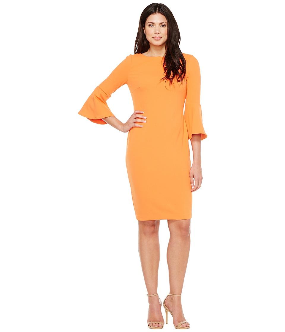 Calvin Klein Bell Sleeve Sheath Dress CD7C133E (Ember) Women