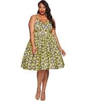 Unique Vintage - Plus Size Damask Golightly Dress