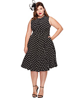 Unique Vintage - Plus Size Tie Neck Dress