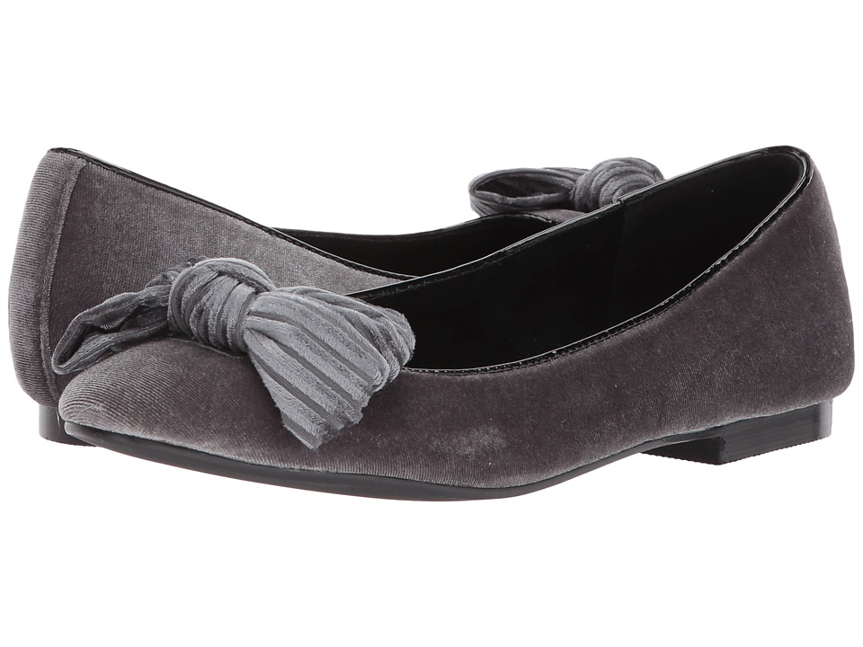 Athena Alexander - Lucille (Grey Velvet) Womens Flat Shoes