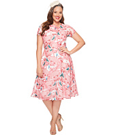 Unique Vintage - Plus Size Chiffon Dress