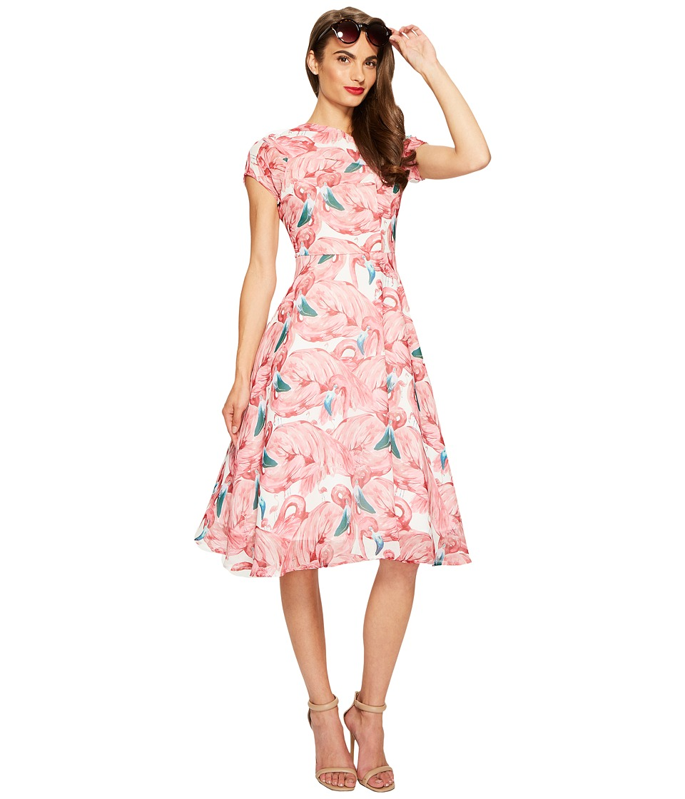 Unique Vintage Chiffon Dress (Flamingo) Women