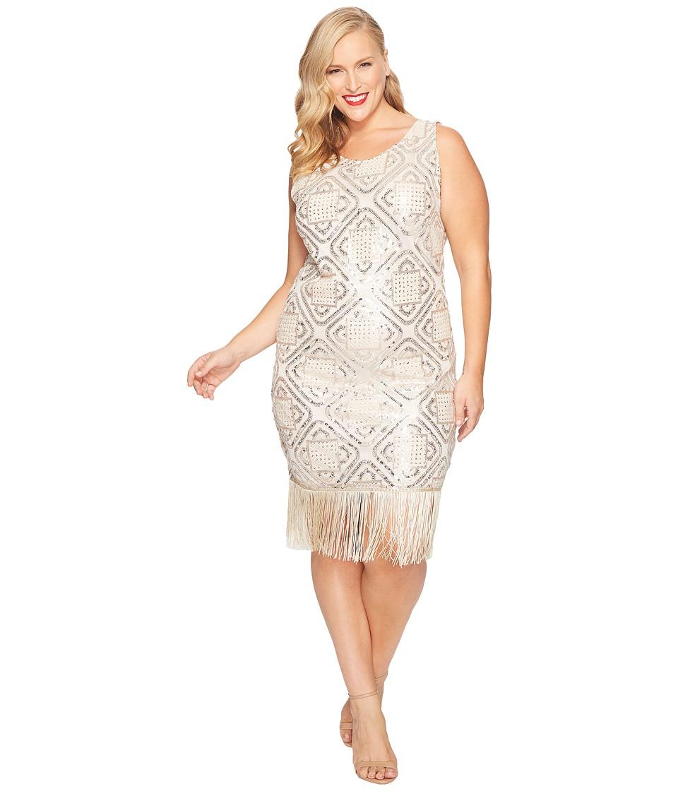 Unique Vintage - Plus Size Flapper Dress