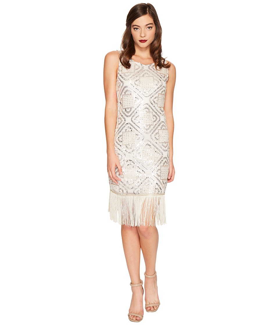 Unique Vintage Flapper Dress (Champagne) Women