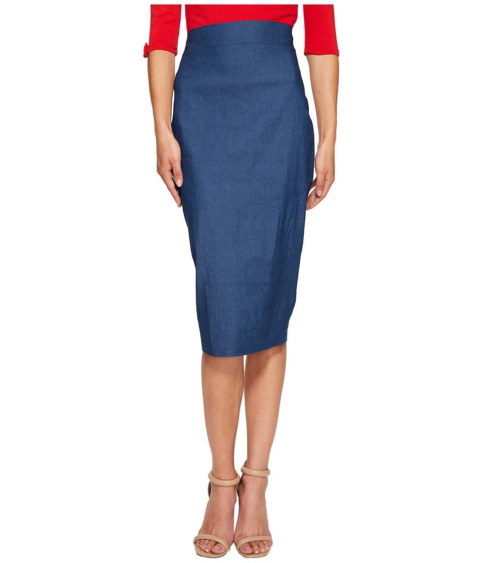 Unique Vintage Pencil Skirt (Denim) Women
