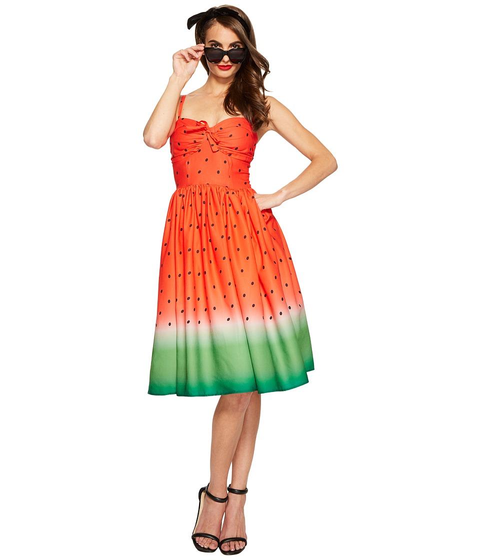 Unique Vintage Watermelon Dress (Print) Women