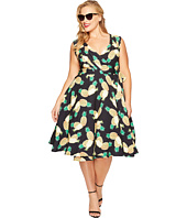 Unique Vintage - Plus Size Pineapple Wrap Dress