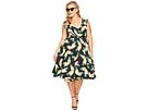 Unique Vintage - Plus Size Pineapple Wrap Dress
