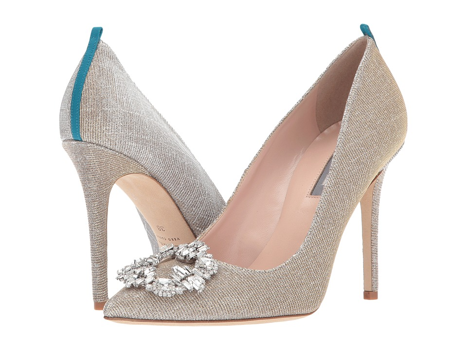 SJP by Sarah Jessica Parker Amira (Silver Argento Fabric) Women