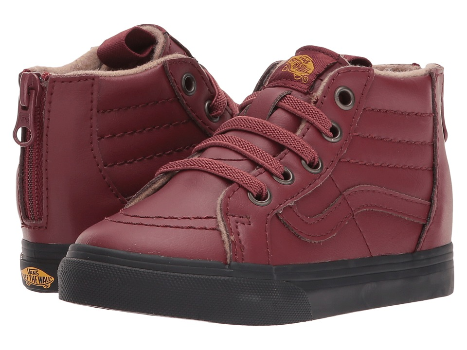 Vans Kids Sk8-Hi Zip (Toddler) ((MTE) Madder Brown/Black) Boy's Shoes