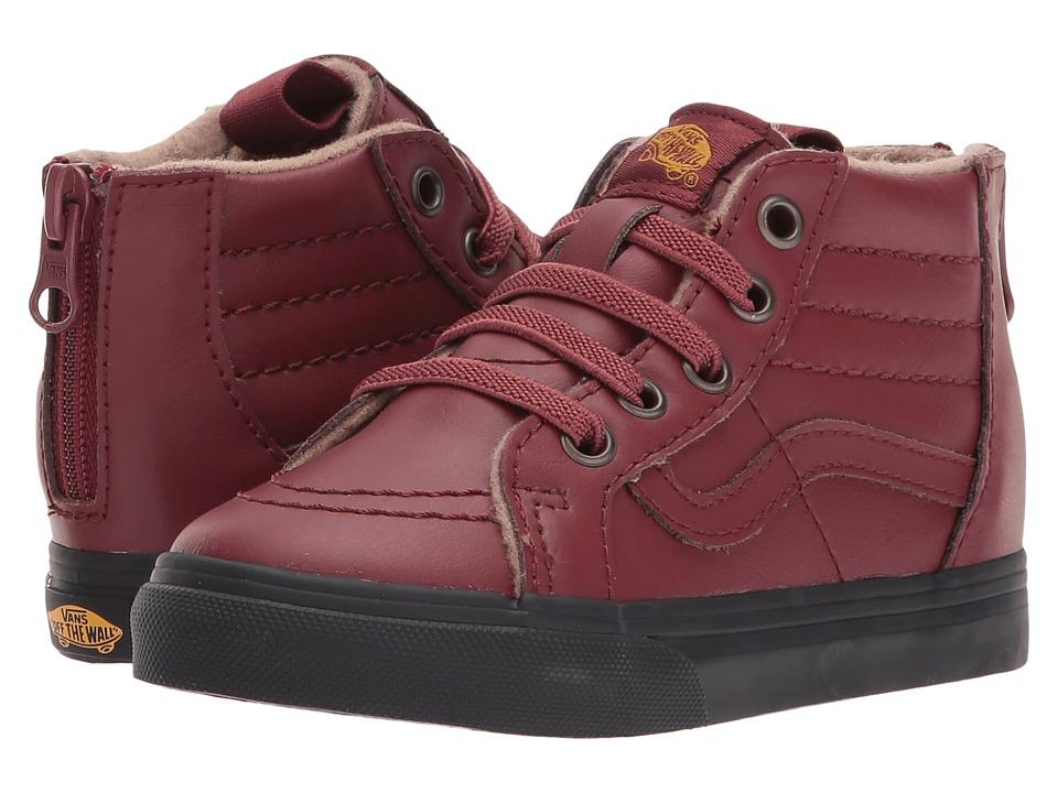 Vans Kids Sk8-Hi Zip (Toddler) ((MTE) Madder Brown/Black) Boy's Shoes