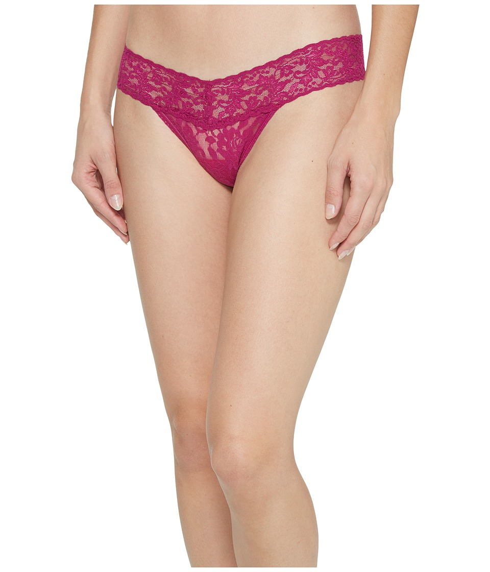 Hanky Panky Signature Lace Low Rise Thong (Bright Amethys...
