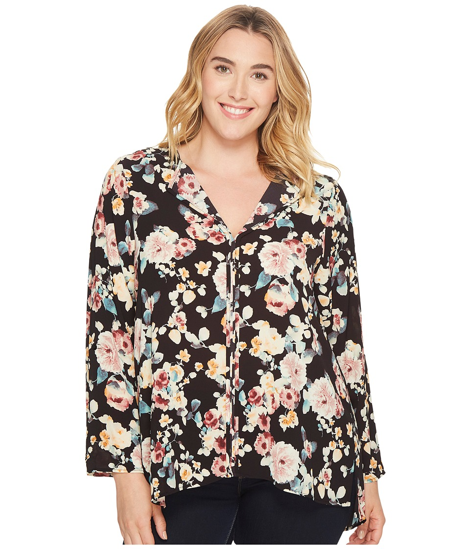 B Collection by Bobeau - Plus Size Cristy Pleat Back Top
