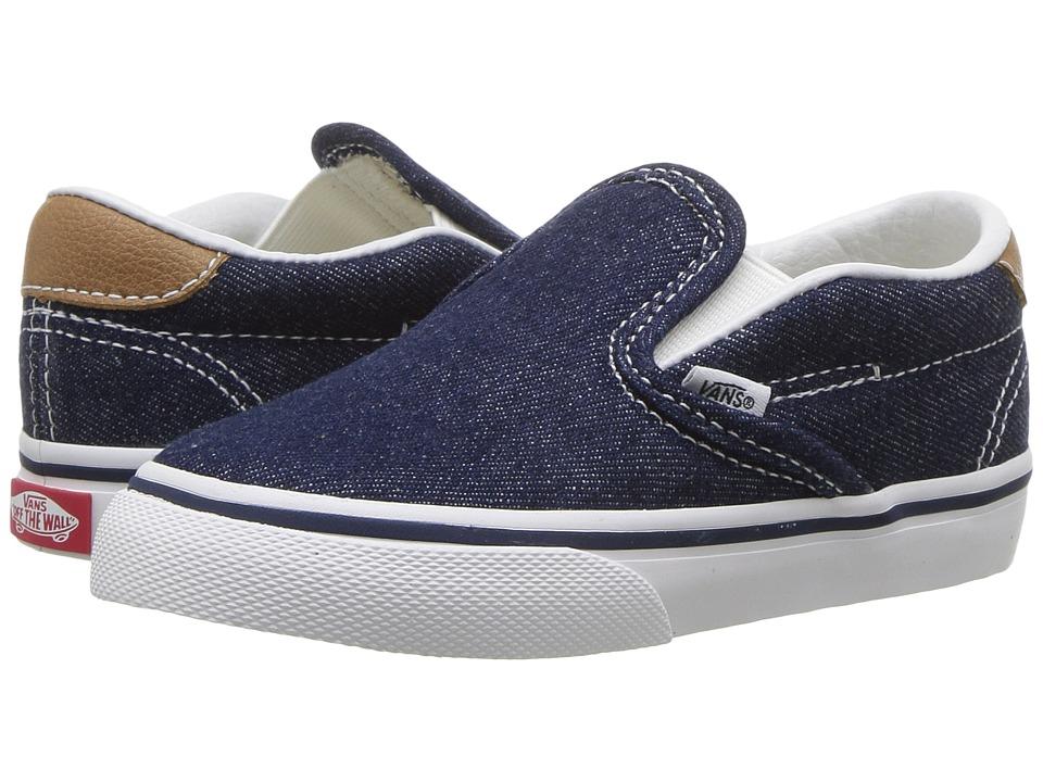 Vans Kids Slip-On 59 (Toddler) ((Denim C&L) Dress Blues/Chipmunk) Boy's Shoes