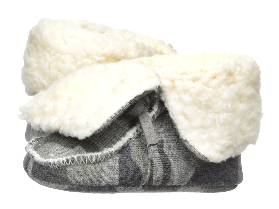 Mud Pie Camo Sherpa Booties (Infant) (Gray) Boys Shoes