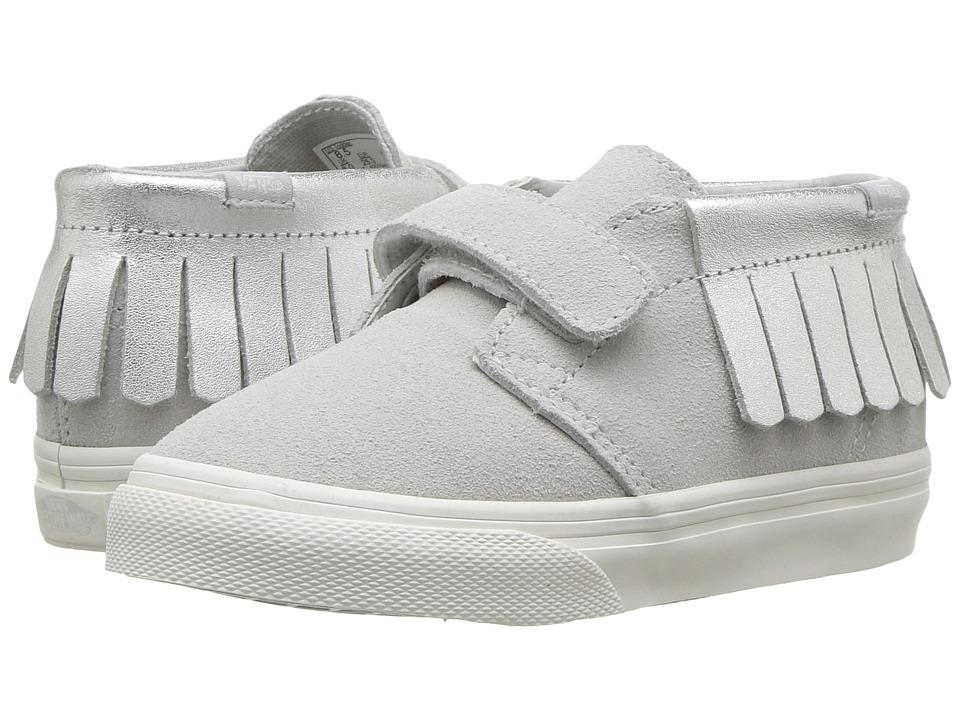 Vans Kids Chukka V Moc (Toddler) ((Metallic) Glacier Gray) Girls Shoes