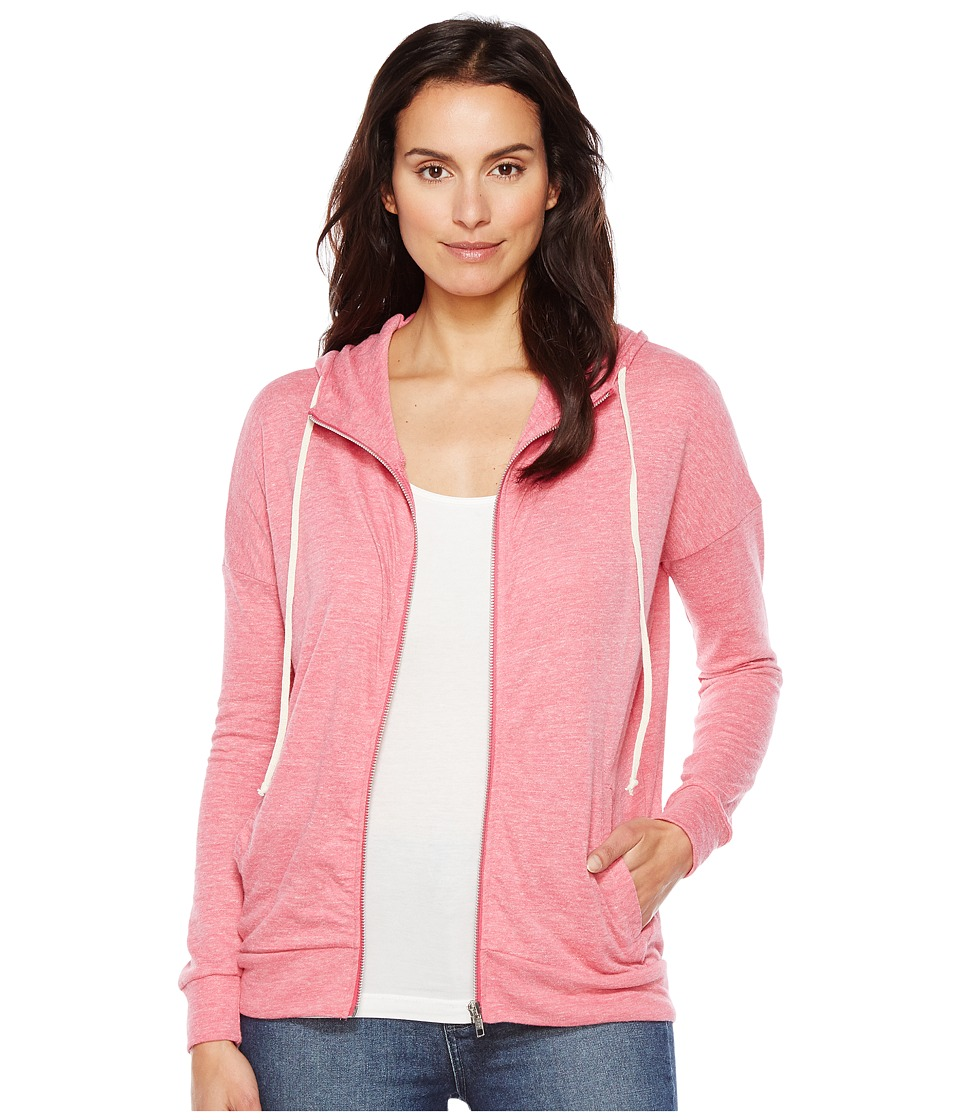Alternative Eco Jersey Cool Down Zip Hoodie (Eco Summer Berry) Women