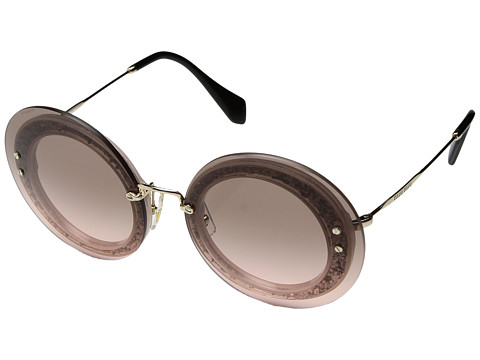 Miu Miu 0MU 10RS - Transparent Pink Glitter/Pink Gradient Grey