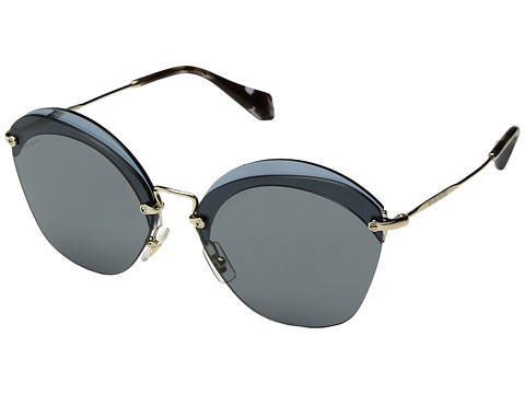Miu Miu 0MU 53SS - Transparent Blue/Pale Gold/Grey