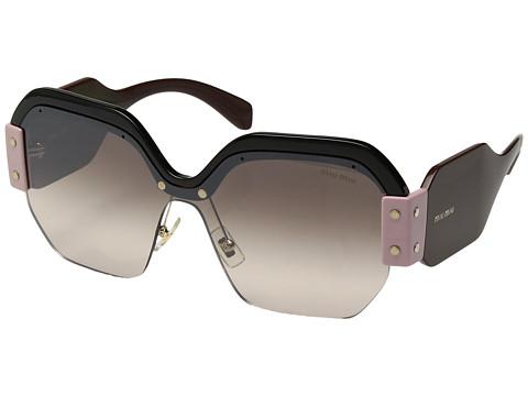 Miu Miu 0MU 09SS - Black/Gradient Brown Mirror Silver