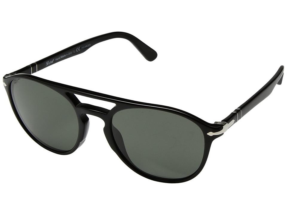 Persol - 0PO3170S (Black/Polarized Green) Fashion Sunglasses