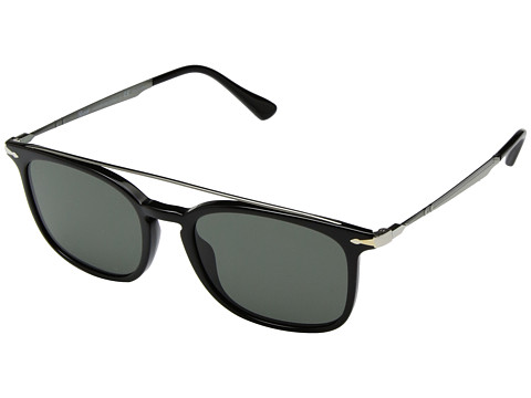 Persol 0PO3173S - Black/Gunmetal/Green Polarized