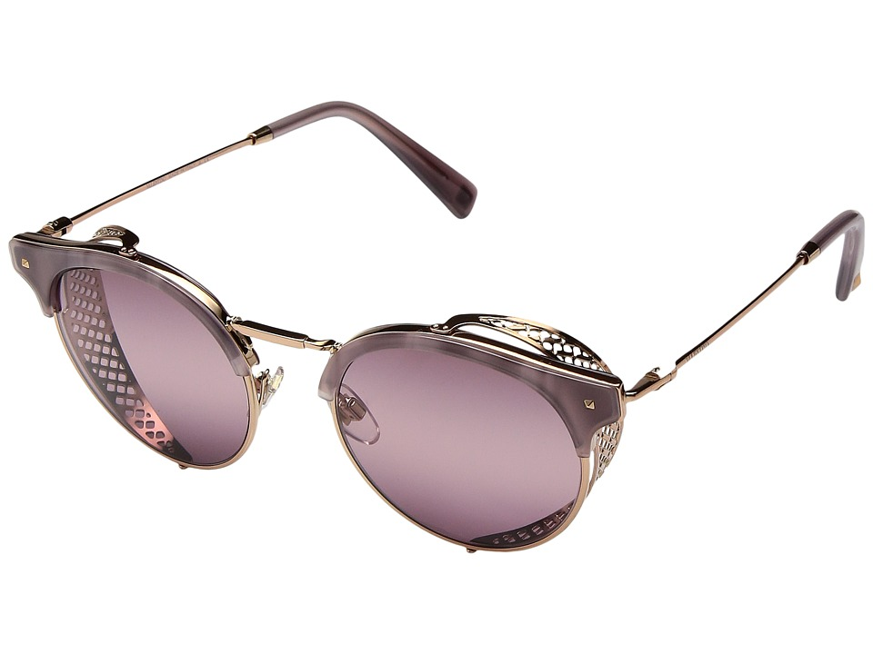 Valentino - 0VA2008Z (Striped Dark Red/Light Gold/Pink Gradient/Purple) Fashion Sunglasses