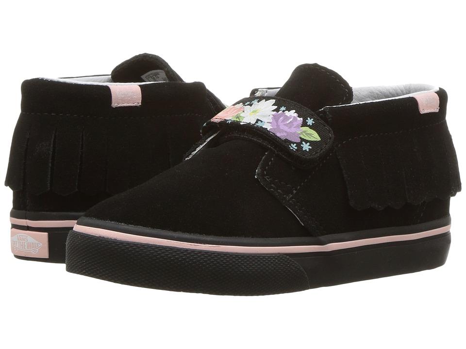 Vans Kids Chukka V Moc (Toddler) ((Flower Crown) Black/English Rose) Girls Shoes