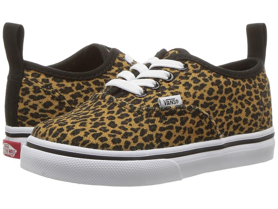 Vans Kids Authentic Elastic Lace (Toddler) ((Mini Leopard) Brown/True White) Girls Shoes