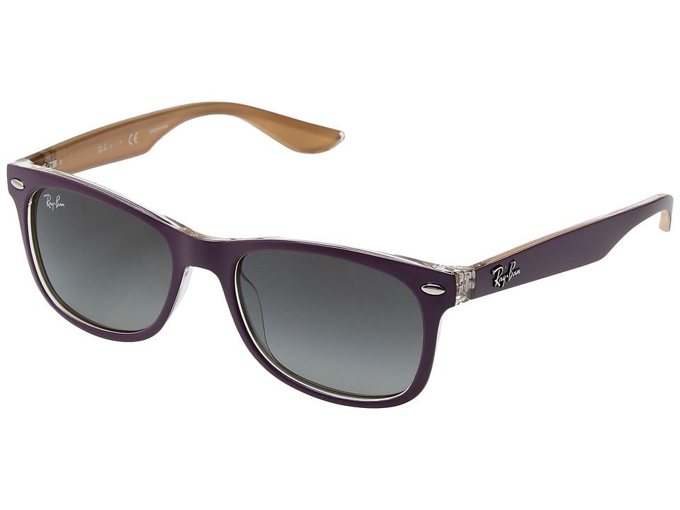 Ray-Ban Junior RJ9052S 48mm (Youth) (Top Matte Violet on Orange/Light Grey Gradient Dark Grey) Fashion Sunglasses