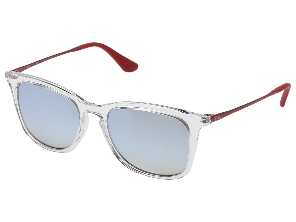 Ray-Ban Junior RJ9063S 48mm (Youth) (Transparent/Brown Gradient Dark Brown Mirror 1) Fashion Sunglasses