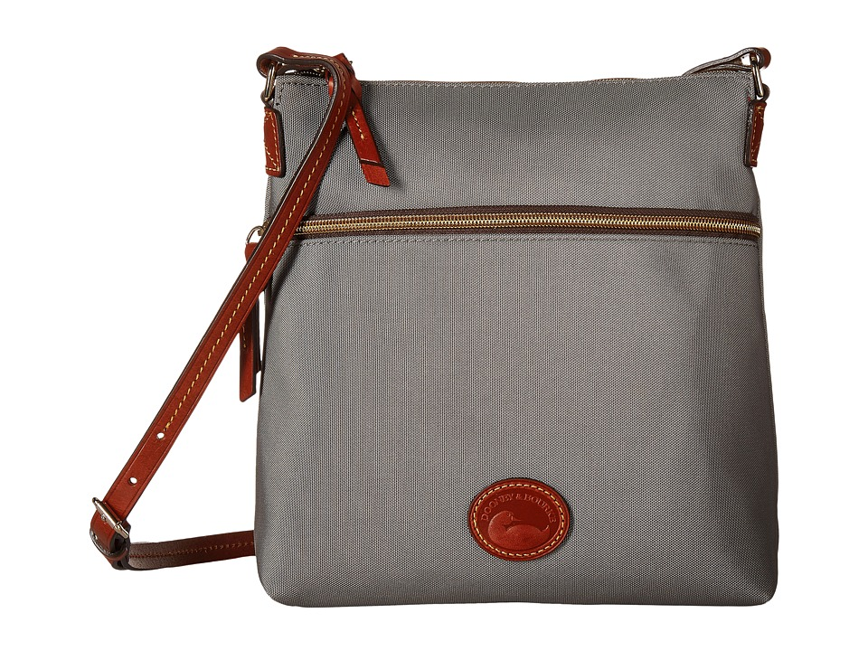 Dooney & Bourke - Nylon Crossbody (Grey/Tan Trim) Cross Body Handbags
