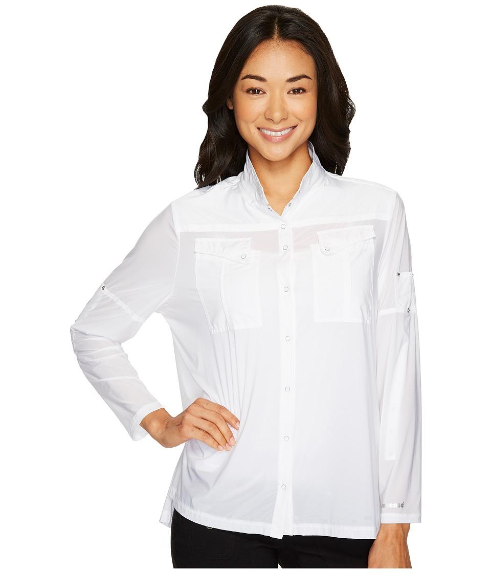 Jamie Sadock - Sunsense(r) Long Sleeve Over Shirt (Sugar) Womens Clothing