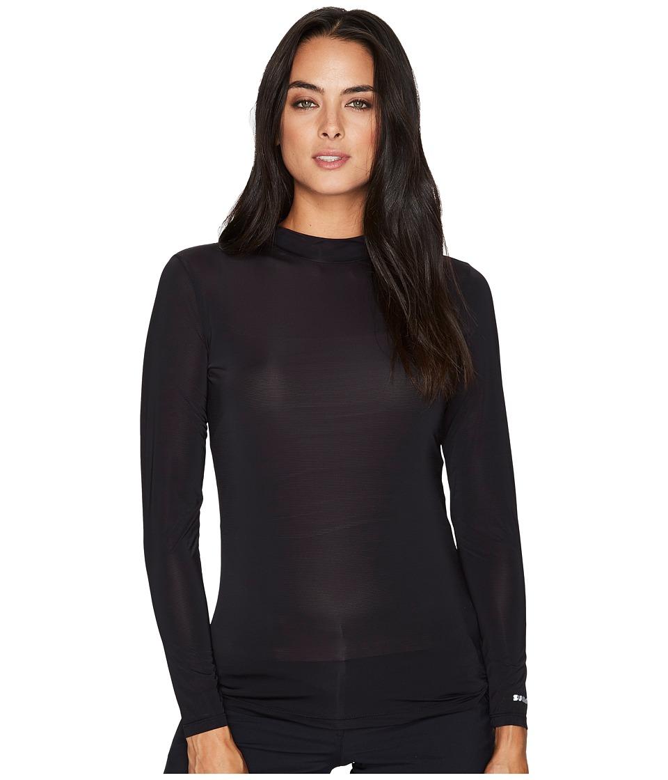 Jamie Sadock - Sunsense(r) Mandarin Collar Layering Shirt (Jet) Womens Clothing