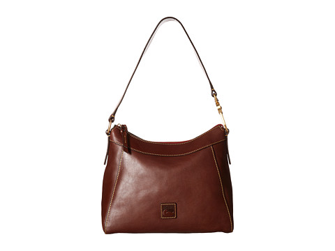 Dooney & Bourke Florentine Classic Large Cassidy Hobo - Chestnut/Self Trim