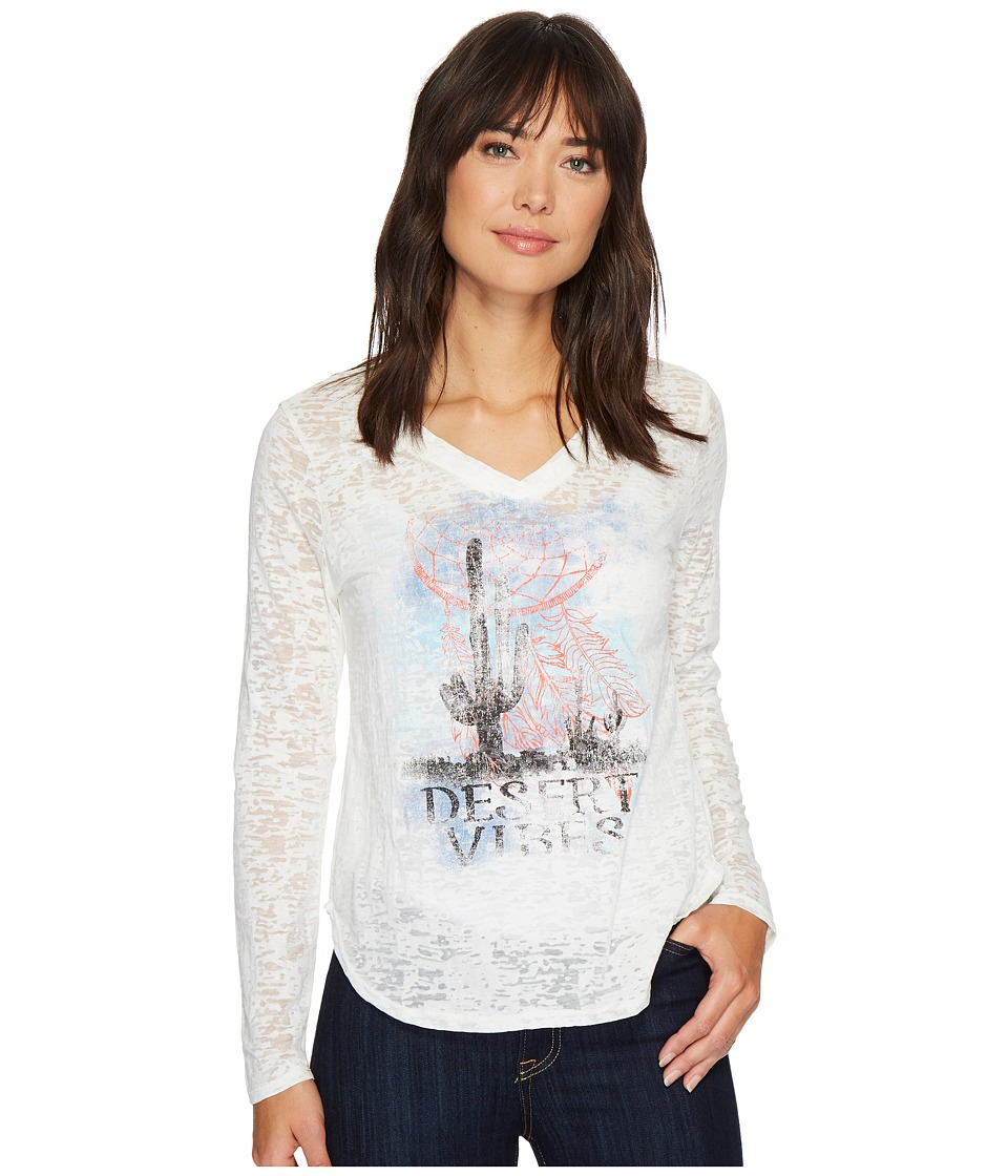 Wrangler - V-Neck Knit (Cream Temp) Women's Clothing